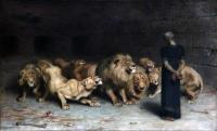 Briton Riviere: Daniel in the Lion\'s Den