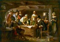 Jean Leon Gerome Ferris: The Mayflower Compact 1620