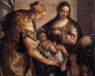 Paolo Veronese: Holy Family with Saint Barbara and the Infant Saint John