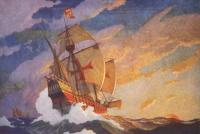 Newell Convers Wyeth: Columbus Crossing The Atlantic
