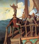 Newell Convers Wyeth: Columbus Sights the New World