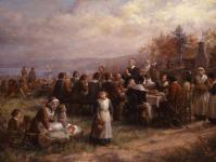 Jennie Augusta Brownscombe: Thanksgiving at Plymouth