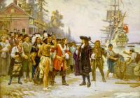 Jean Leon Gerome Ferris: The Landing of William Penn 1852