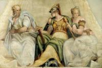 Paolo Veronese: Minerva between the Geometry and Arithmetic