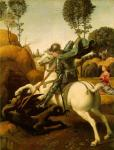 Raffaello Sanzio da Urbino (Raphael): Saint George and the Dragon