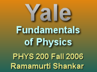 This lecture of Ramamurti Shankar's Fall 2006 Fundamentals of Physics course covers rotations and the parallel axis theorem.